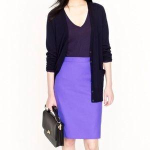 "J. Crew   ""The Pencil Skirt"" purple size 6"